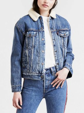 Bunda LEVI'S Exbf Sherpa Trucker Addicted To Love Modrá