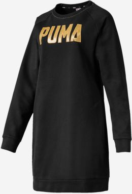 Šaty Puma Athletics Dress Fl Čierna