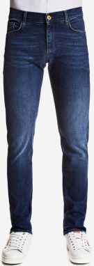 Džínsy Trussardi 370 Close Fantasy Denim Hiver Bicolor Super Stretch Modrá