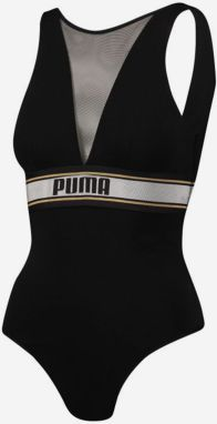 Body Puma High Neck Bodysuit 1P Hang Čierna