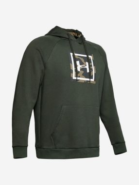 Mikina Under Armour Rival Fleece Printed Hoodie-Grn Zelená