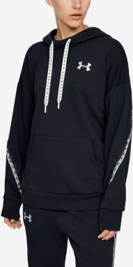 Mikina Under Armour Fleece Hoodie Taped Wm Čierna