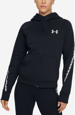 Mikina Under Armour Fleece Taped Wm Fz Hoodie Čierna