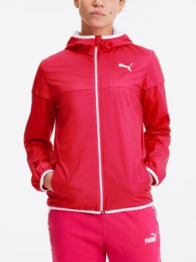 Bunda Puma Essentials Solid Windbreaker Růžová