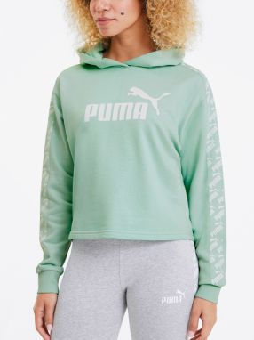 Mikina Puma Amplified Cropped Hoody Tr Zelená