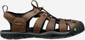 Topánky Keen Clearwater Cnx Leather M Dark Earth/Black Us Hnedá