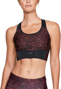 Under Armour Mid Crossback Bra vínová S