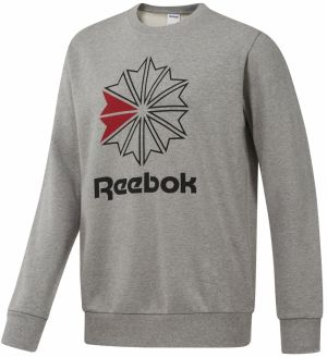 Reebok Ac Ft Big Starcrest Crew sivá 2XL