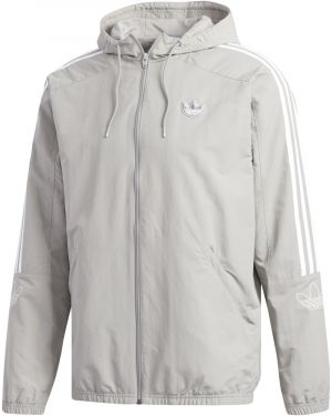adidas Outline Trefoil Windbreaker sivá