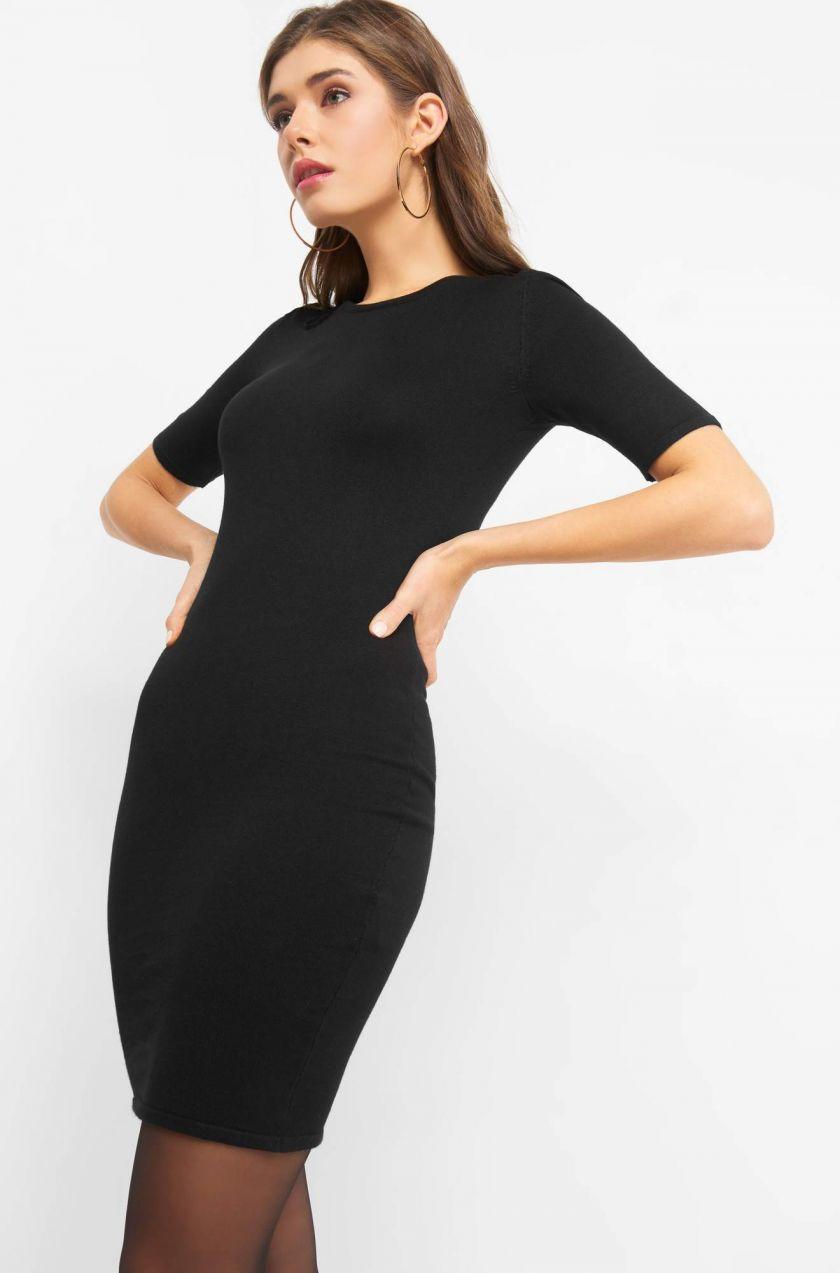Obtiahnuté šaty z úpletu značky ORSAY - Lovely.sk ec08ed938b4
