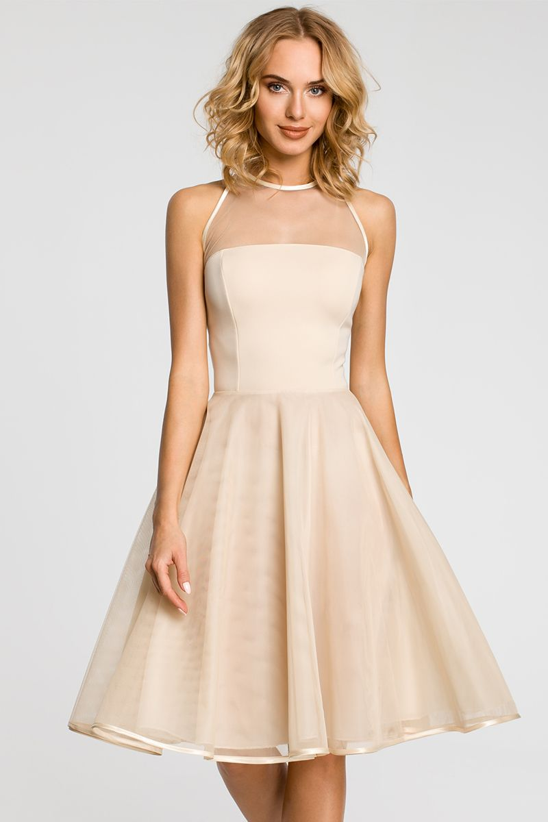 c4b4950f8343 Béžové šaty MOE 148 značky Moe - Lovely.sk