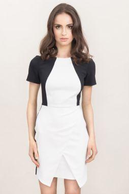 99fcb3c0d8ab Bielo-čierne šaty Misebla MSU0029