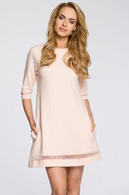 5066e1deaf3f Broskyňové šaty MOE 219