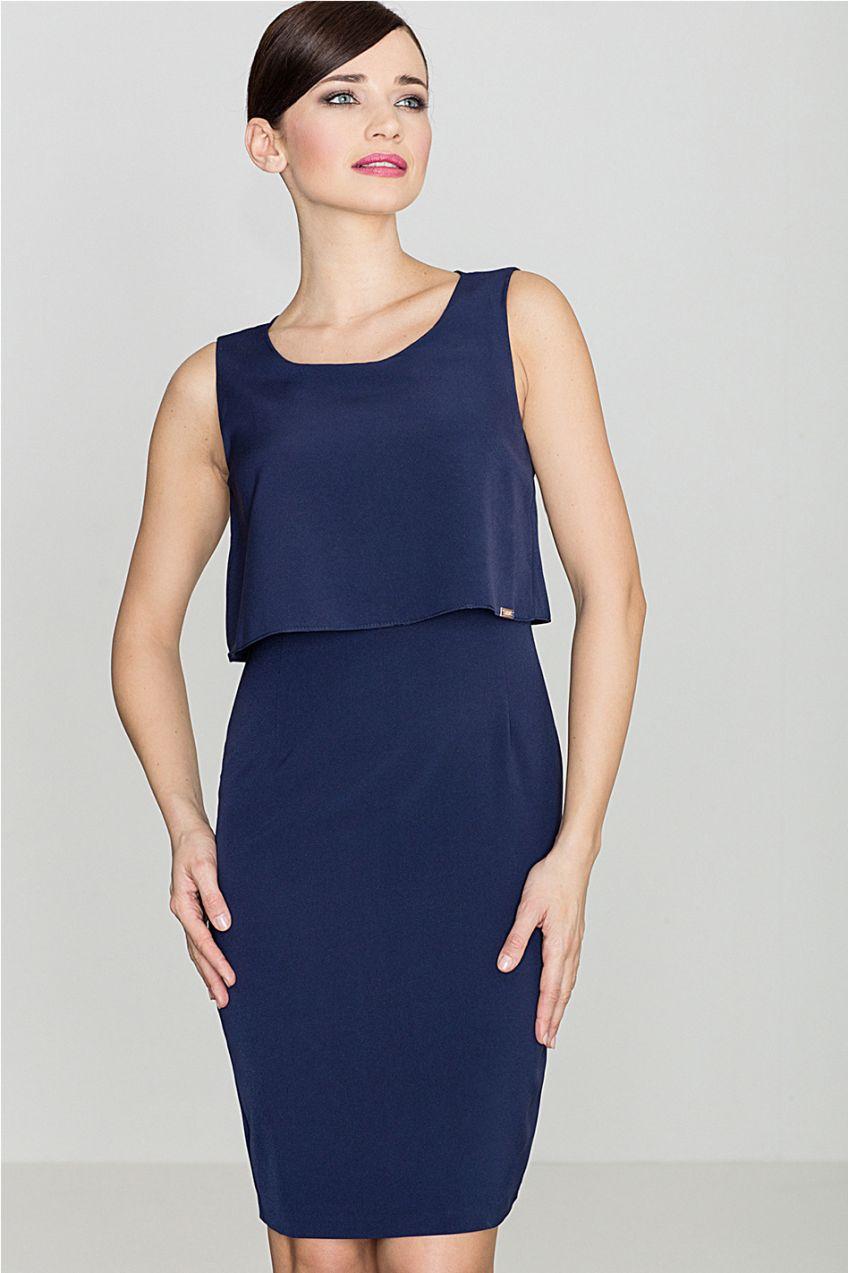 5dae9be85cff Tmavomodré šaty K388 značky Lenitif - Lovely.sk