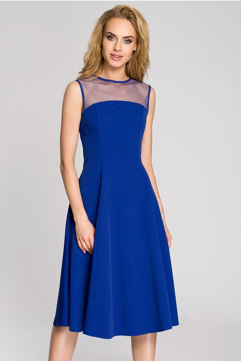 1143e446e5 Modré šaty MOE 271 značky Moe - Lovely.sk