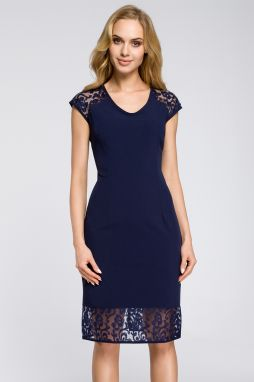 f7d91738fb Tmavomodré šaty MOE 366 značky Moe - Lovely.sk