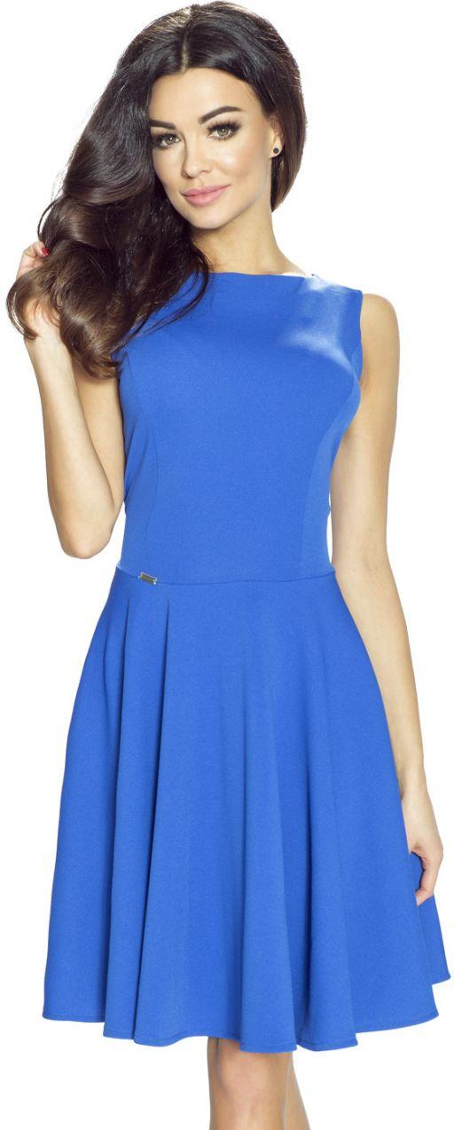 fb4210ada7e8 Modré šaty Lucia značky Bergamo - Lovely.sk