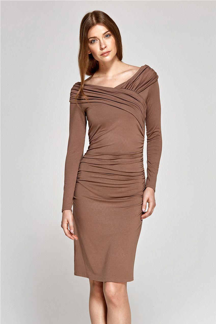 4e2374088f2e Hnedé šaty CS07 značky Colett - Lovely.sk