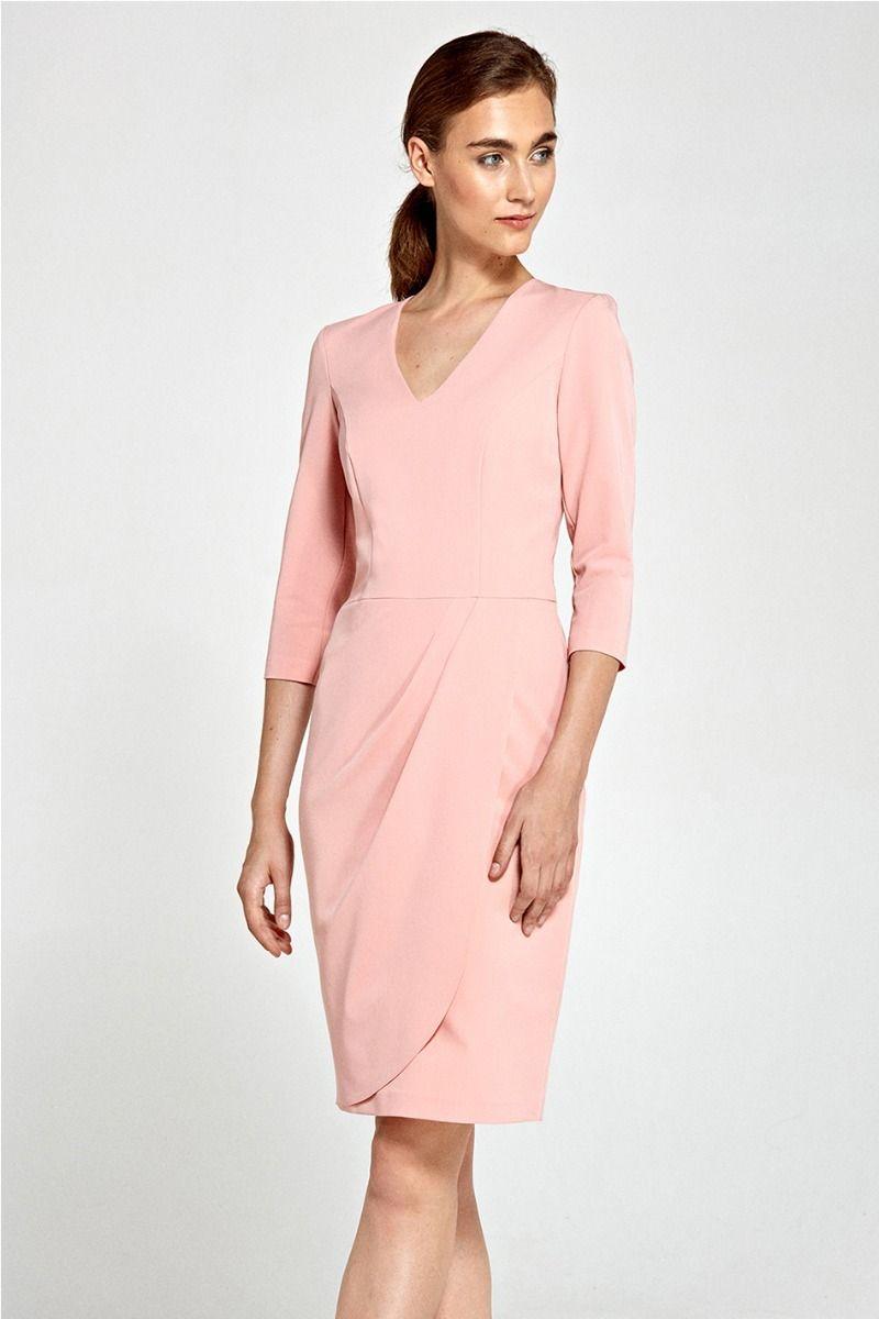 3b976e614663 Svetloružové šaty S91 značky Nife - Lovely.sk