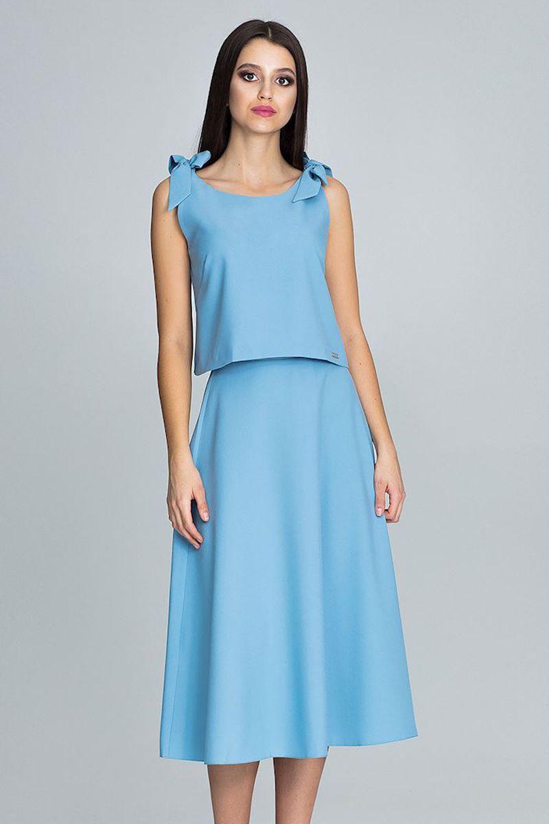 b09096edc207 Modrý komplet top + sukňa M578 značky Figl - Lovely.sk