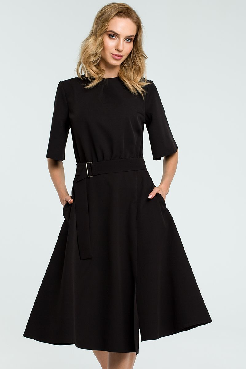 629e7c07780e Čierne šaty MOE396 značky Moe - Lovely.sk