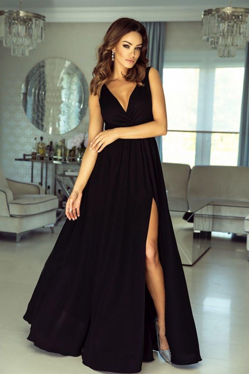 66904de8b9fd Čierne šaty Anabell značky EMO - Lovely.sk