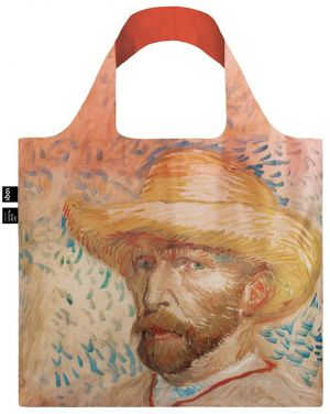 Viacfarebná taška Vincent Van Gogh Self Portrait with Straw Hat Bag
