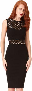 d72dec08ac15 Čierne šaty s bielym golierikom Goddiva značky Goddiva - Lovely.sk