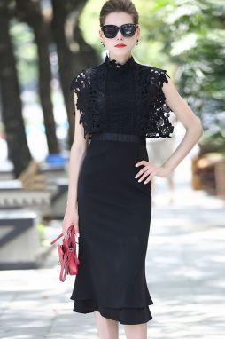 a97b0f19f ... Becca Čierne šaty Madelyn Nové Lovely Teva sandále