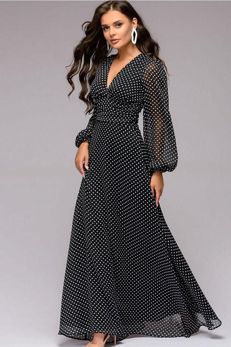 ebade7f8dbd8 Čierne bodkované šaty Odell značky Pops - Lovely.sk