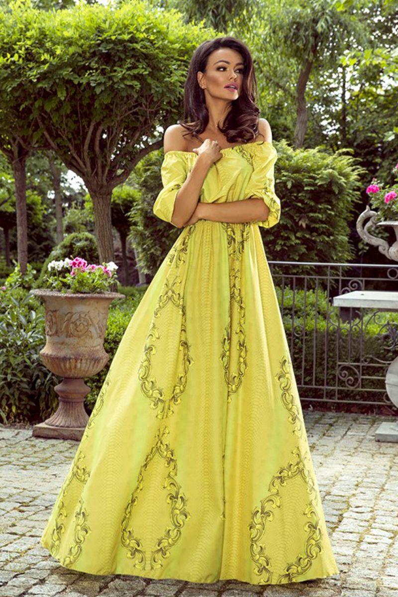 f07640f90433 Žlto-zelené šaty Klara značky EMO - Lovely.sk