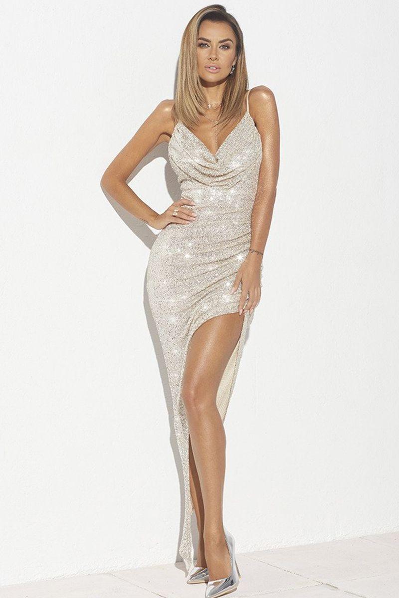 9d95b073f2d2 Zlaté šaty Aries značky Loula - Lovely.sk