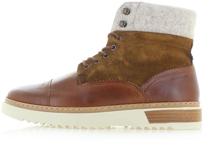 33039f0ef9 Pánske škoricové kožené členkové topánky Jean značky Gant - Lovely.sk