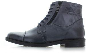 2e002698e147a Pánske tmavosivé kožené členkové topánky Elmer