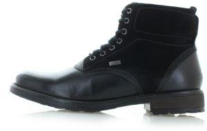 eed3630b7c577 Pánske čierne kožené členkové topánky Colby