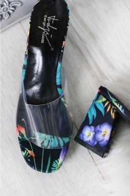 d54a387a0788 Čierne kvetované šľapky Bernelle galéria. Čierne kvetované šľapky Bernelle. SERGIO  TODZI