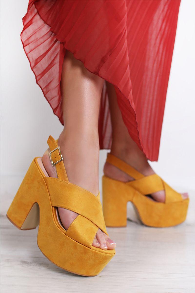 9847b48b0f1f7 Žlté sandále Rhonda značky SERGIO TODZI - Lovely.sk