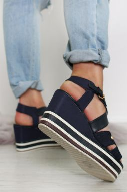 e0013d91c35d Tmavomodré platformové sandále America Wonder značky WRANGLER ...
