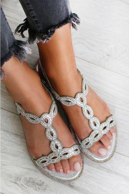 8c98c4b19371 Strieborné sandále Nancy značky IDEAL - Lovely.sk