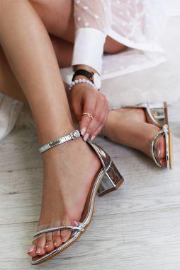 5ed9de6811a2 Strieborné sandále Aysha značky SERGIO TODZI - Lovely.sk