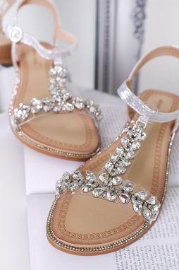 72fc093c6ba3 Strieborné sandále Lizzy značky BELLE WOMEN - Lovely.sk