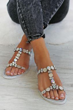 22a84814fa1b Strieborné sandále Karya značky IDEAL - Lovely.sk