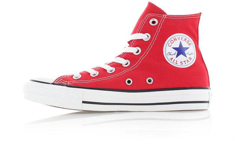 e708a2fbf999e Dámske červené vysoké tenisky Chuck Taylor All Star značky Converse ...