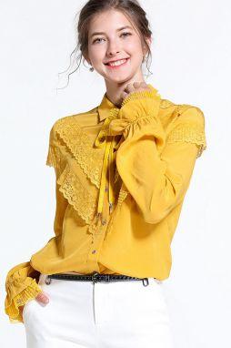 d7337712c7ff Žlté dámske košele a blúzky - Lovely.sk
