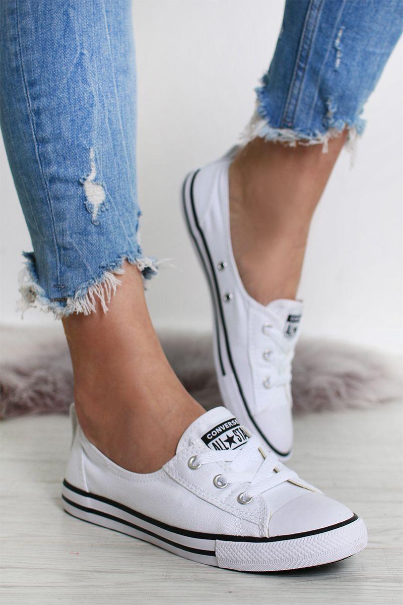 819755811e704 Dámske biele tenisky Chuck Taylor All Star Ballet Lace značky ...
