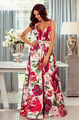 602f0cffde10 Fuchsiovo-smotanové šaty Megi