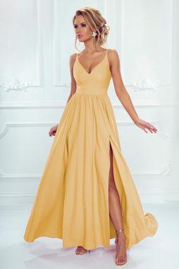 86bf8e22a860 Žlté šaty s čipkou na chrbte Chi Chi London Noelie značky Chi Chi ...