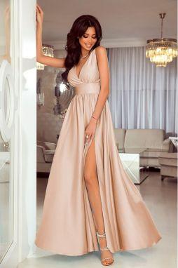a6a980e8e503 Svetlobéžové šaty Anabell