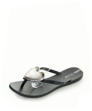 a14dc46731 Čierno-strieborné šľapky Ipanema Maxi Fashion II