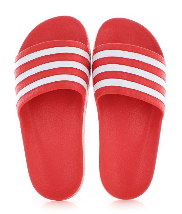 fb00a62dc Dámske červené šľapky Adilette Aqua značky adidas Performance ...
